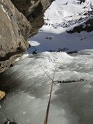 Rock Climbing Photo: Laurel coming up P1. January 2014.