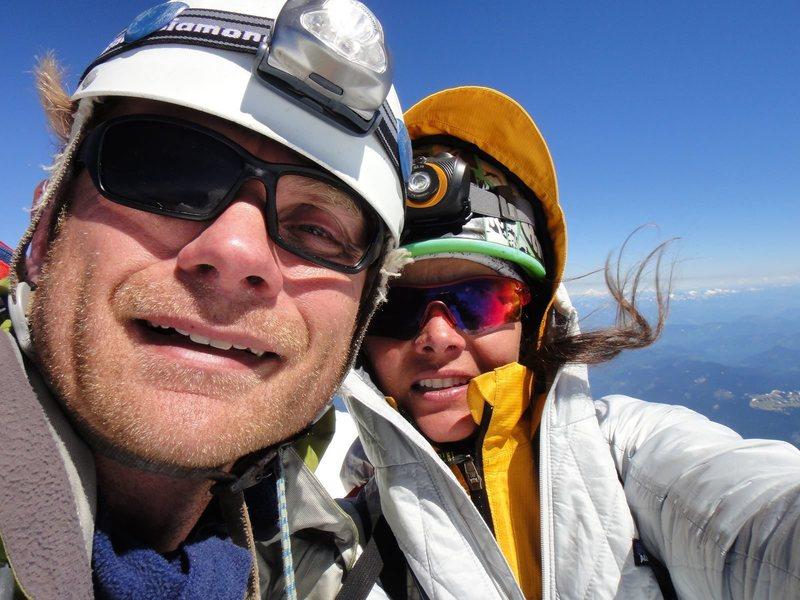 Rock Climbing Photo: On the Lib cap. The shrund took the lense. 06/30/2...