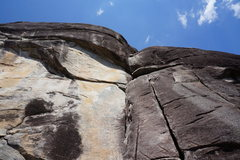Rock Climbing Photo: P1 start.  You can just see the 'block' as you pul...
