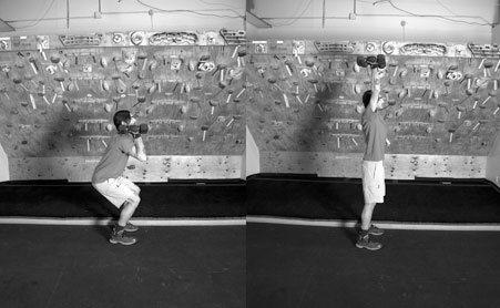 Rock Climbing Photo: Dumbell push press by Julie Ellison