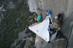 Rock Climbing Photo: Peanut Ledge of El Cap's Zodiac by Martin Fickweil...