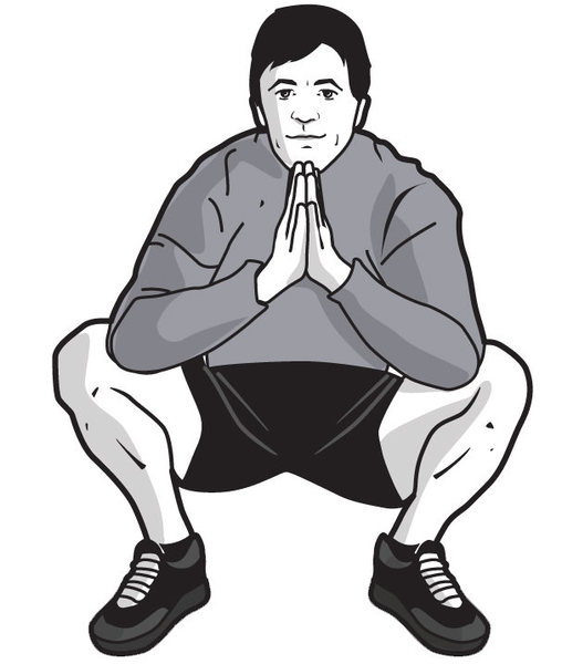 Rock Climbing Photo: Fig 2. Hip stretch squat