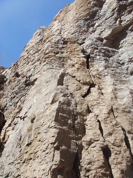 Rock Climbing Photo: Jim at the anchors