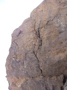 Rock Climbing Photo: This shows the upper section of the bolt line. The...