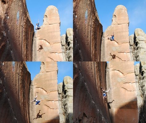 Rock Climbing Photo: Take the whip, take the whip!—ooh, but not like t...