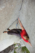 Rock Climbing Photo: Scumming your shoulder, hip, or back against one w...