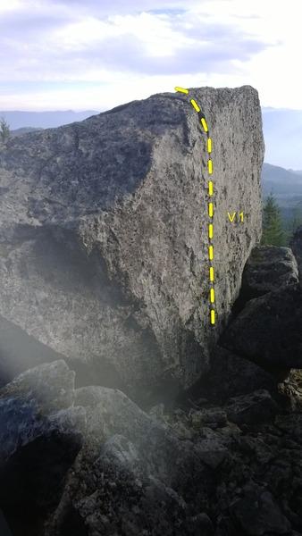 Rock Climbing Photo: Blue Lights, Pull Right problem.