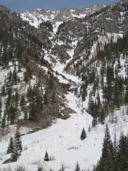 Rock Climbing Photo: Toni's Nightmare with some big avalanche debris pi...