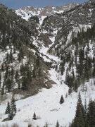 Rock Climbing Photo: Toni's Nightmare with some big avalanche debris pi...