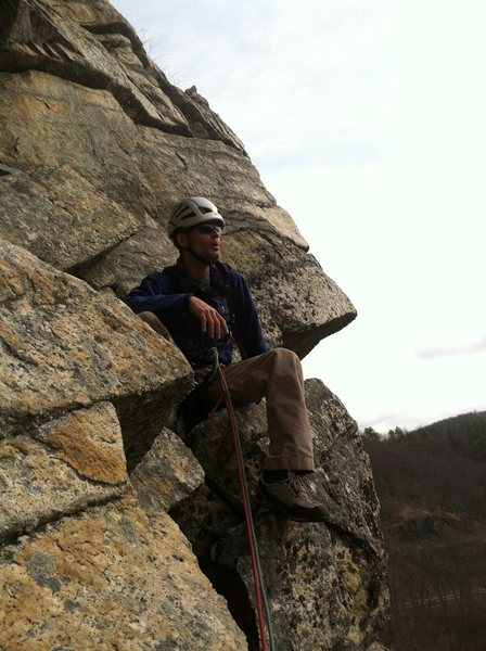 Tony chillin at the pitch 4 belay