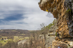 Rock Climbing Photo: Wide angle view of the route.