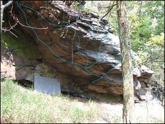 Rock Climbing Photo: This photo shows most of the lines on the overhang...