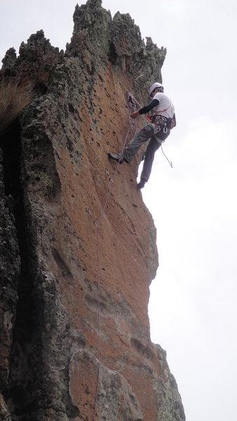 Rock Climbing Photo: Sanchez no te Enganches 6a, Hatun Machay, Peru