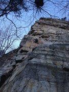 Rock Climbing Photo: Owen on the traverse