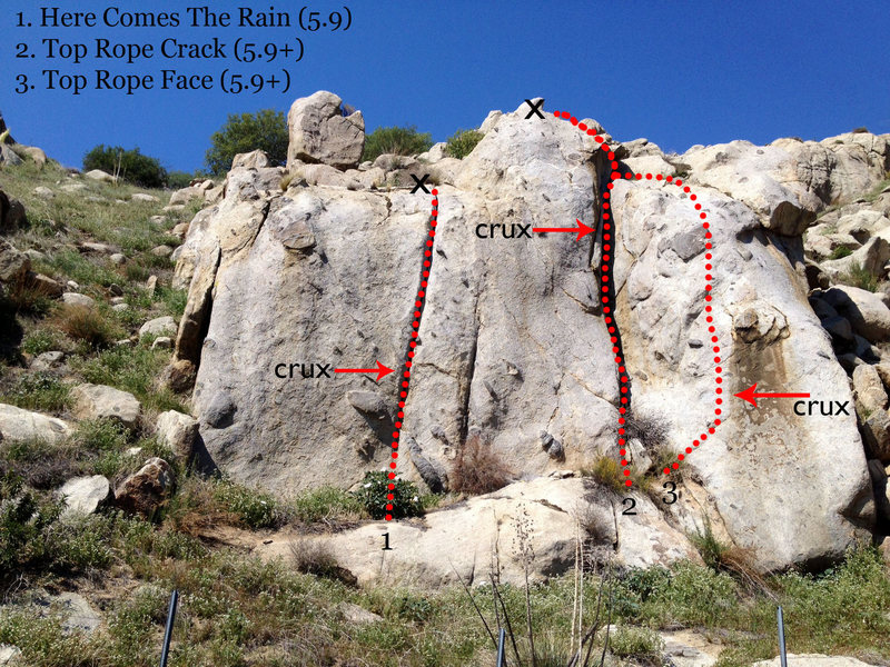 Rock Climbing Photo: Topo of Kern Canyon MBC