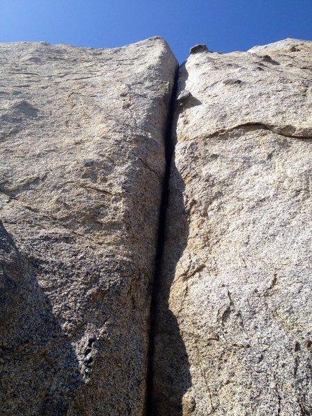 Rock Climbing Photo: Just past crux.
