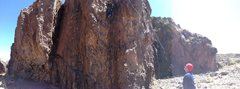Rock Climbing Photo: Pan of waterfall; trail is to right, not left