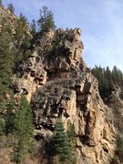 Rock Climbing Photo: From the parking area just up the road 50 yds