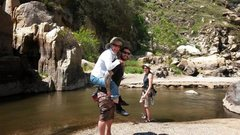 Rock Climbing Photo: Crossing the Kern River to get to The Gym
