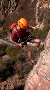 Rock Climbing Photo: Rappelling after TR setup