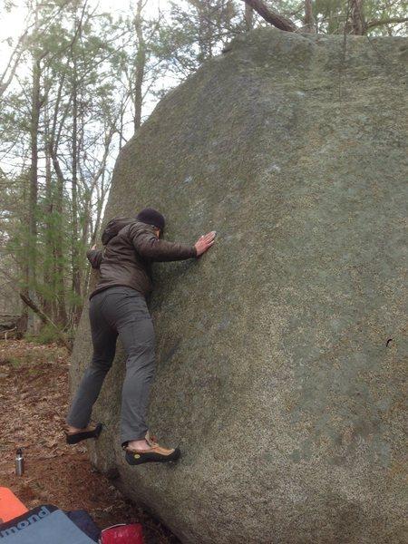 Rock Climbing Photo: Ryan on Wonton Soup, V4.