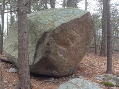 Rock Climbing Photo: American Dream, V5, starts on the obvious holds ne...