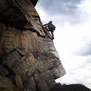 Rock Climbing Photo: P2 of Layback in the Near Trapps
