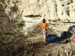 Rock Climbing Photo: Conner belaying cliffs of insanity