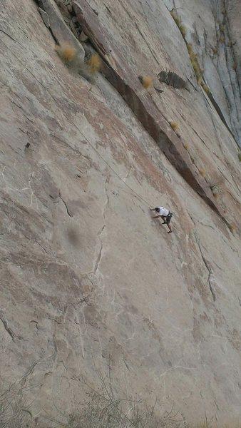 Rock Climbing Photo: d Dave Cox 1st pitch Falling Sherkin
