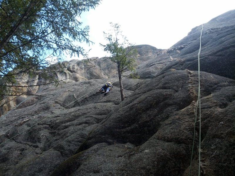 Rock Climbing Photo: Right to left: Dikes Edge 5.6 Heart Throb 5.8 Yaht...