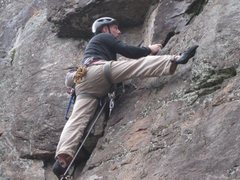 Rock Climbing Photo: I think you can see my nuts!!