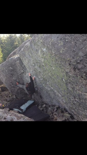 Rock Climbing Photo: Micah Klesick on a great problem at Upper Kueffer.