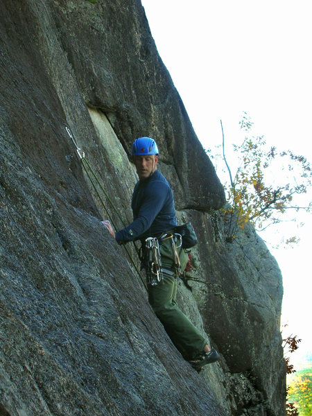 Rock Climbing Photo: Rapid Transit onsight! High pucker factor!!