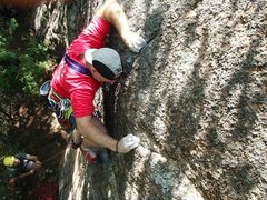 Rock Climbing Photo: Thin Line, FA, Attitash Crag, NH