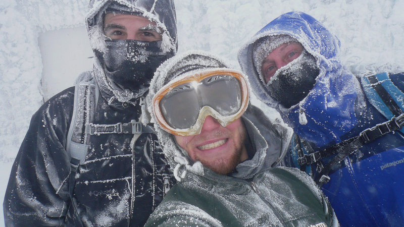 Mount Washington Summit with clients. -80F, 70 MPH winds