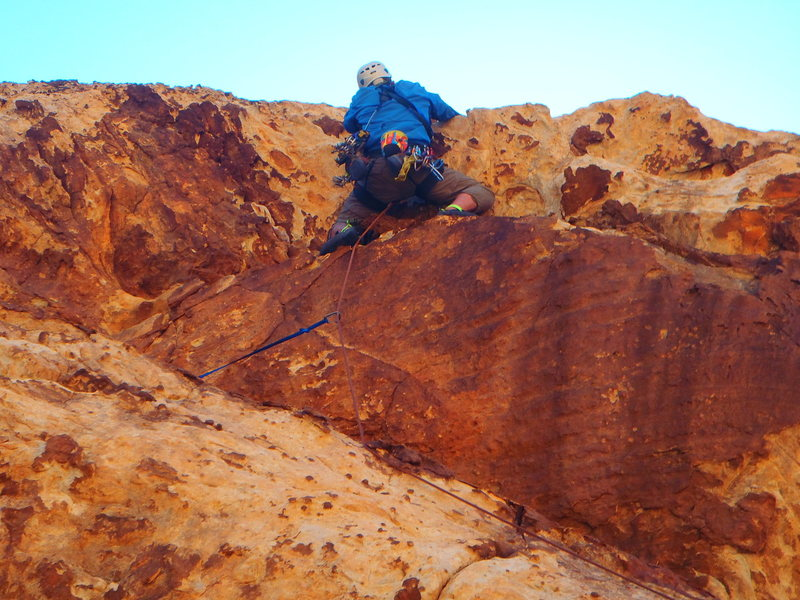 Rock Climbing Photo: Here is the path straight over the roof. Pretty ea...