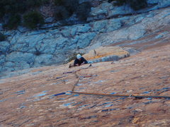 Rock Climbing Photo: Pitch 3 up to DoWT belay