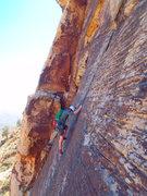 Rock Climbing Photo: Lotta Balls 2nd pitch thin section (pinching balls...