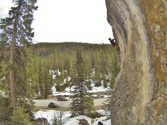 Rock Climbing Photo: Reggie eats up Frosted Flake, 5.10b The Ice Box, S...