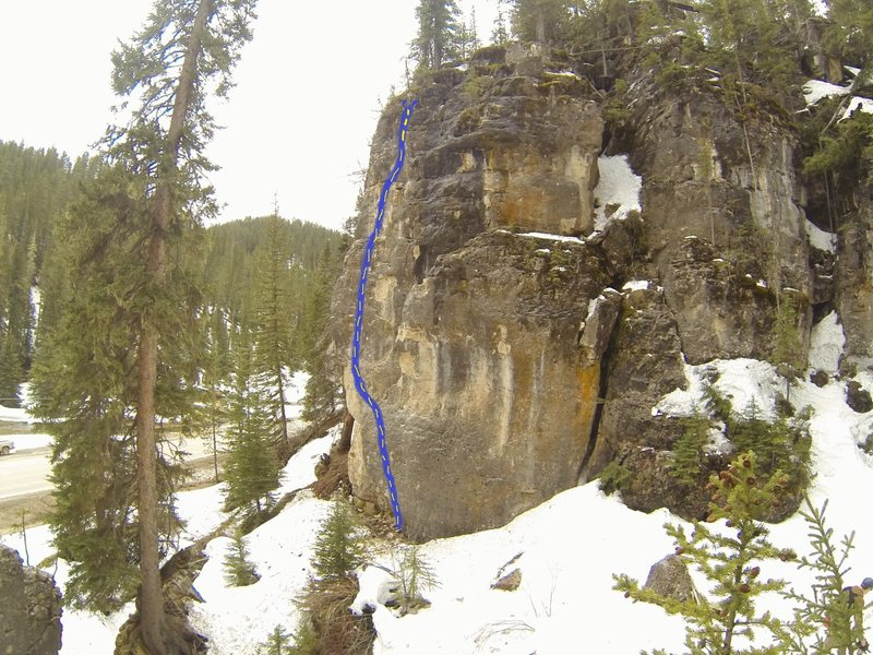 Frosted Flake, 5.10b. A fun, yet challenging moderate right next to the road at the Ice Box Crag in upper Spearfish Canyon.