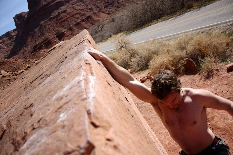 Rock Climbing Photo: Easy and fun little problem in a beautiful area.