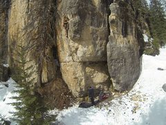 Rock Climbing Photo: Reggie climbing The KlonDyke, 5.10a Ice Box. Spear...