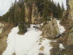 Rock Climbing Photo: Reggie summits The KlonDyke, 5.10c