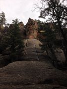 Rock Climbing Photo: Left hand crack of Arete (Landwhale 5.12)