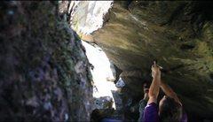Rock Climbing Photo: Hard Roof