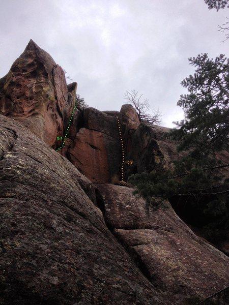 Rock Climbing Photo: Cracktus & Pinnacate
