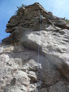 Rock Climbing Photo: The rope is on the route.