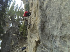 Rock Climbing Photo: Getting crushed by Ice Blocks, 5.11a