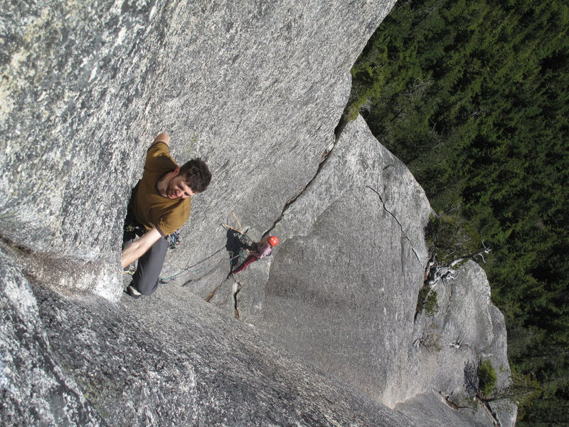 Rock Climbing Photo: top pitch of sun blessed