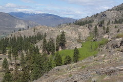 Rock Climbing Photo: Turtle Island and Hidden Valley from the top of th...